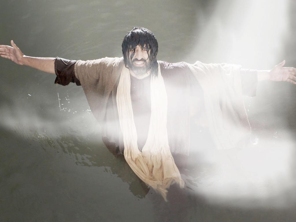 Chrzest Jezusa (J. 1:19-34, Łk. 3:21-22, Mt. 3:13-17, Mk. 1:9-11)