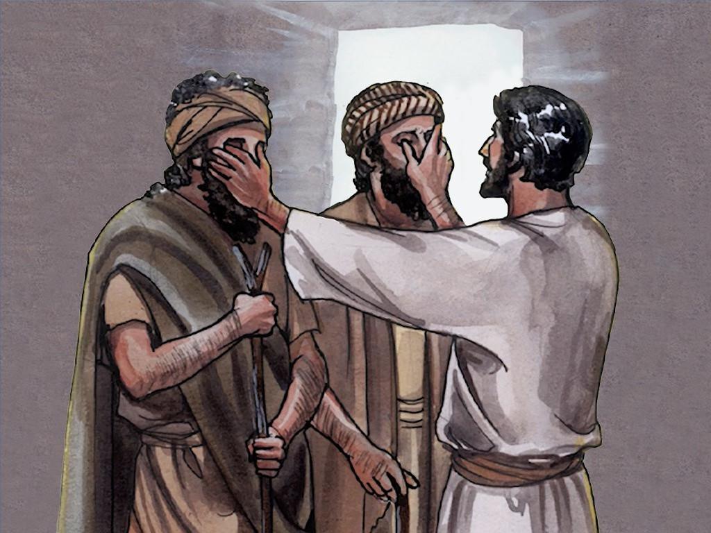Uzdrowienie dwóch ślepych (Mt. 9:27-31)